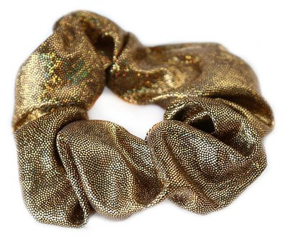 Shimmer scrunchie bronze