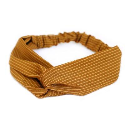 Haarband Stripe ocker