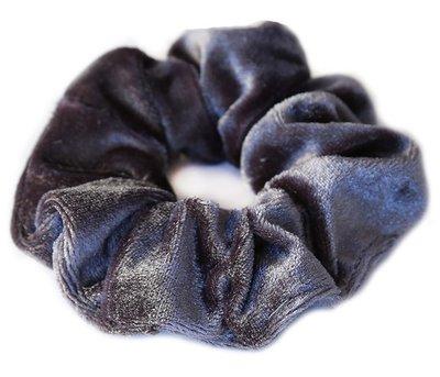 Velvet scrunchie Grey/blue