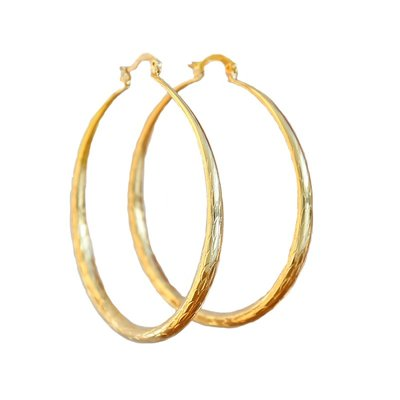 Ohhringe bamboo hoops gold