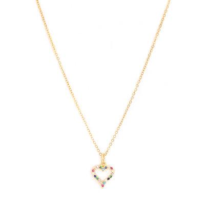 Kette Heart strass gold