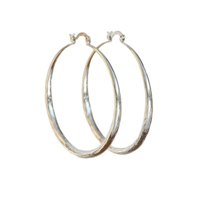 Ohhringe bamboo hoops silver