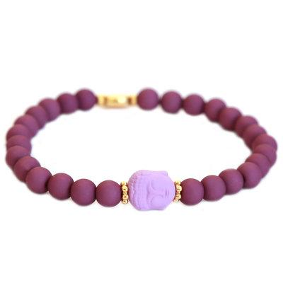 Armband buddha purple