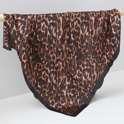 Satin Bandana-Schal leopard print