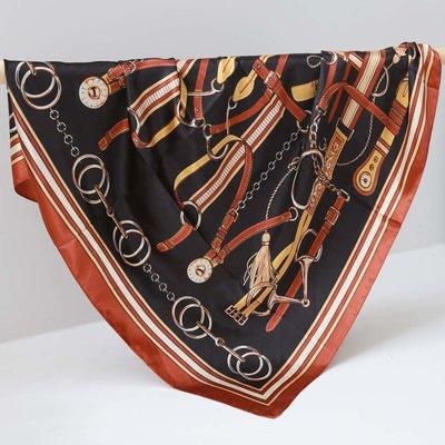 Satin Bandana-Schal chain copper