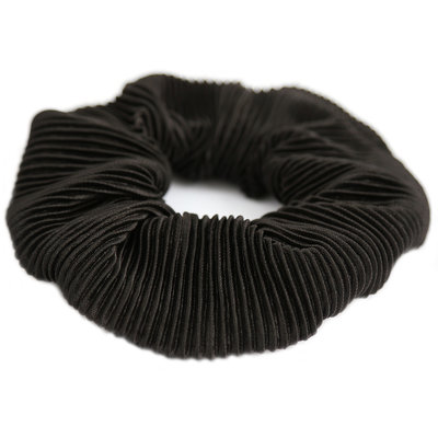 Scrunchie plisse black