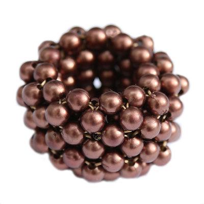 Haargummi pearl bronze