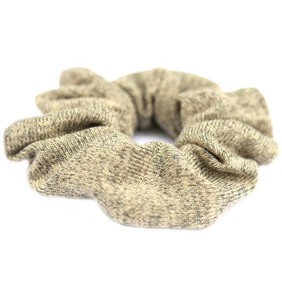 Scrunchie knitted beige yellow