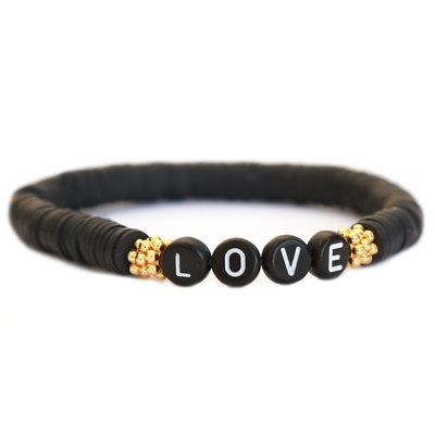 Winter armband LOVE black