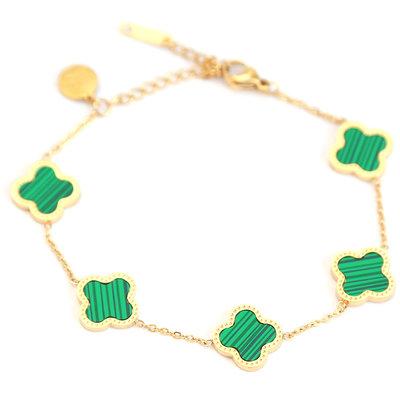 Armband lucky clover green