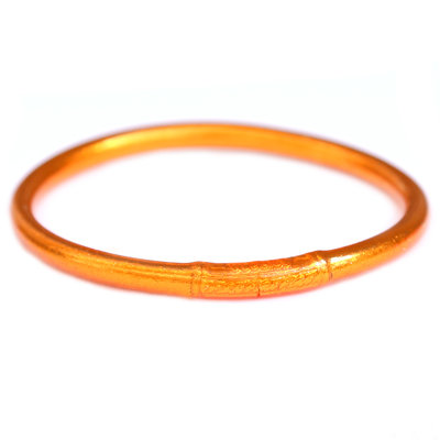 Armband buddhist good luck fire orange