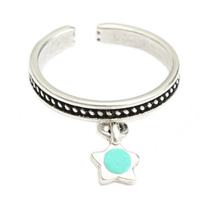 Ring star turquoise silver